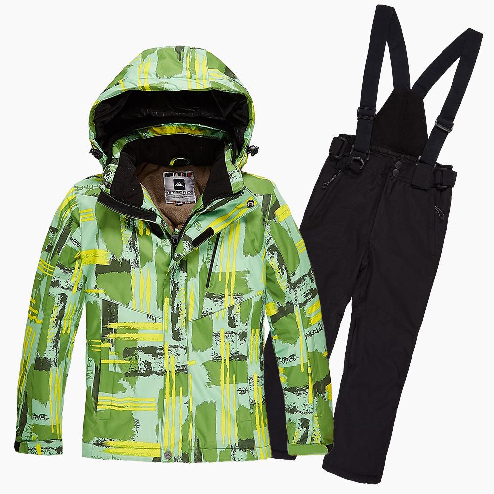 Купить оптом Костюм горнолыжный для девочки салатовый цвета 01774Sl в Санкт-Петербурге