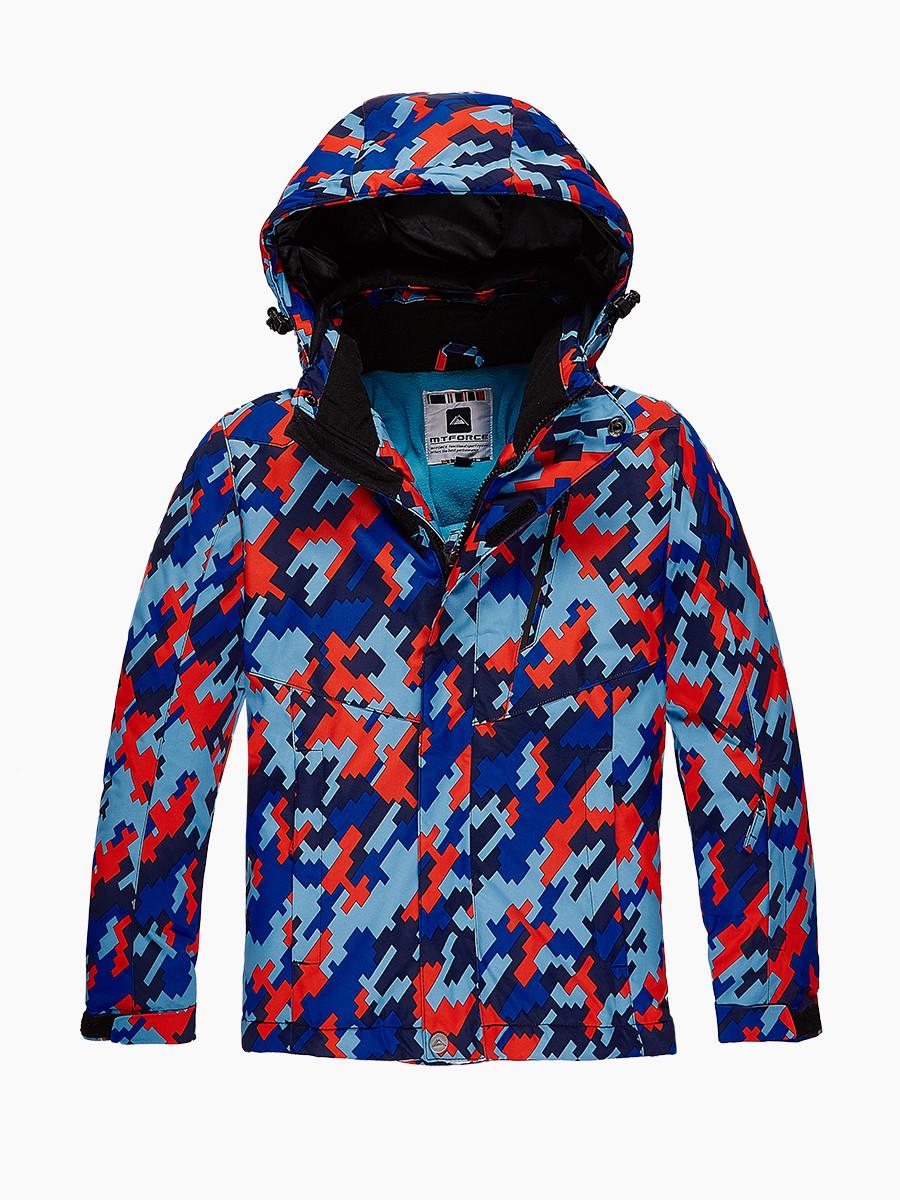 Купить оптом Куртка горнолыжная подростковая для девочки красного цвета 1774Kr в Воронеже