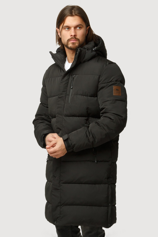 Купить оптом Куртка зимняя удлиненная мужская черного цвета 1780Ch в Челябинске