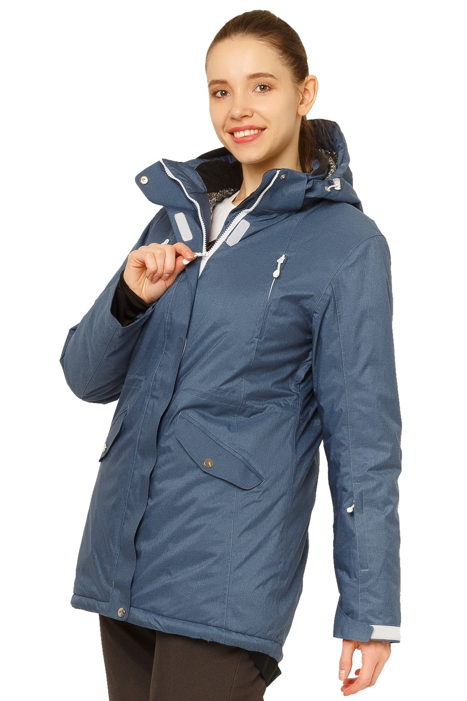 Купить оптом Куртка горнолыжная женская большого размера голубого цвета 1783Gl в Воронеже