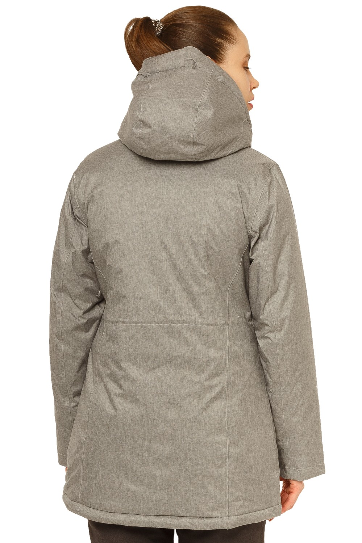 Купить оптом Куртка горнолыжная женская большого размера серого цвета 1783Sr в  Красноярске