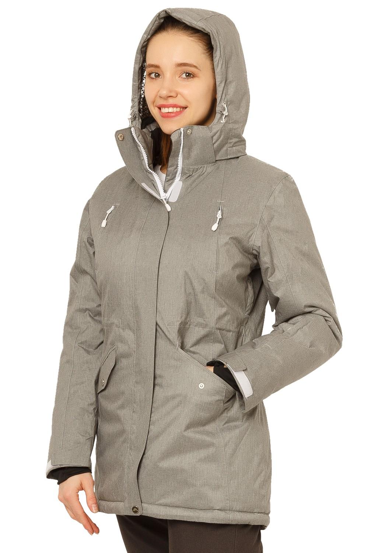 Купить оптом Куртка горнолыжная женская большого размера серого цвета 1783Sr в Нижнем Новгороде