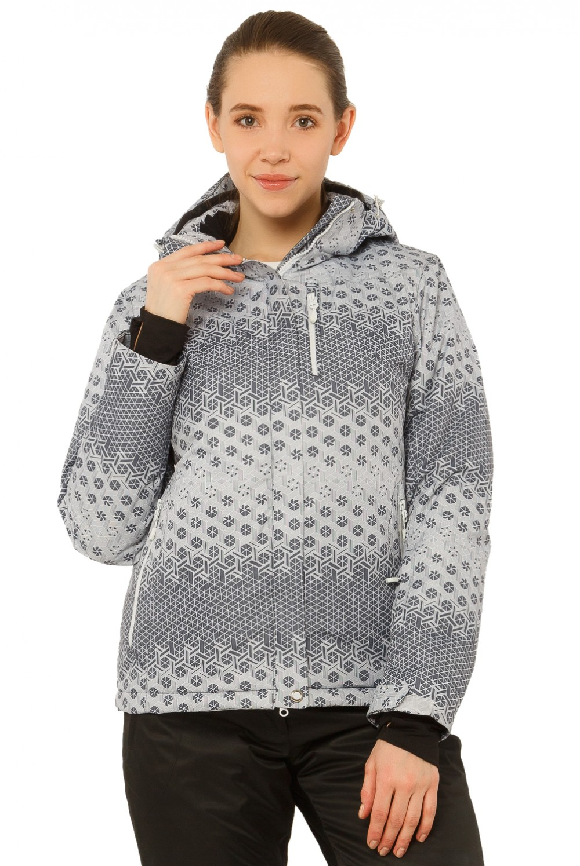 Купить оптом Куртка горнолыжная женская серого цвета 1786Sr в Воронеже