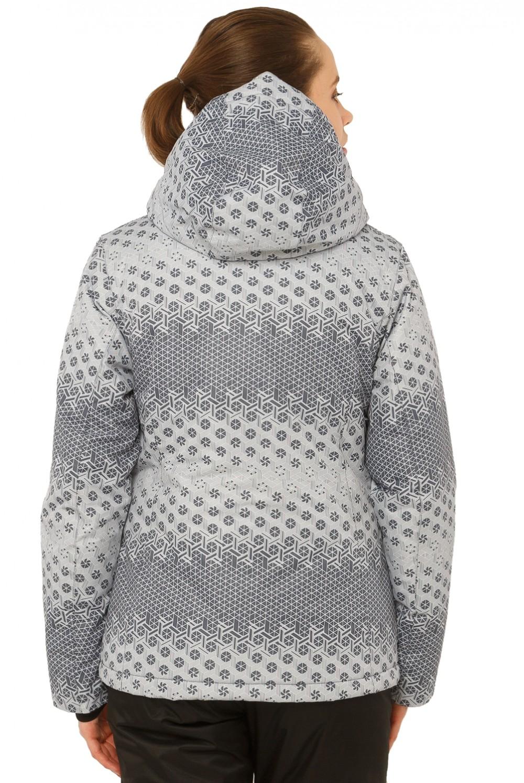 Купить оптом Куртка горнолыжная женская серого цвета 1786Sr в Новосибирске