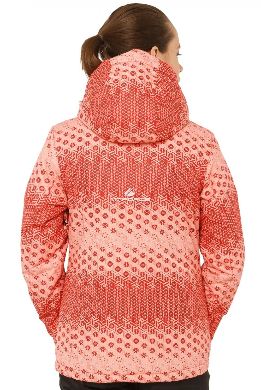 Купить оптом Костюм горнолыжный женский персикового цвета 01786P в Нижнем Новгороде
