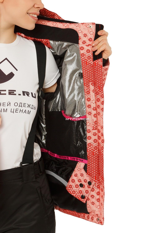 Купить оптом Куртка горнолыжная женская персикового цвета 1786P в Екатеринбурге