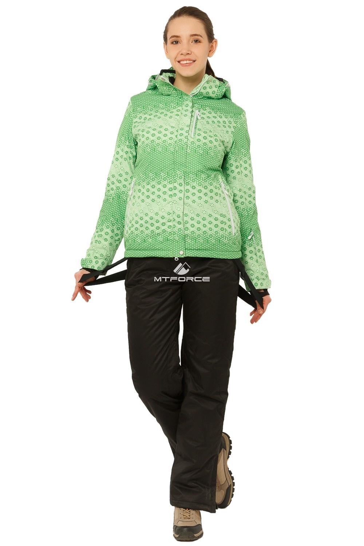 Купить оптом Костюм горнолыжный женский зеленого цвета 01786Z