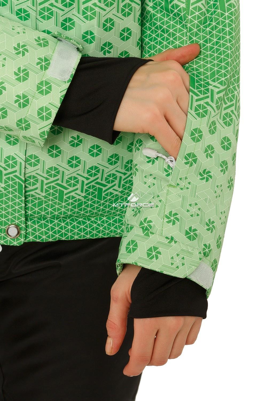 Купить оптом Костюм горнолыжный женский зеленого цвета 01786Z в Волгоградке