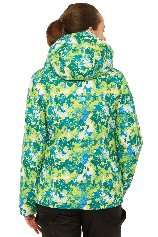 Купить оптом Куртка горнолыжная женская зеленого цвета 1787Z