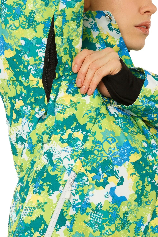 Купить оптом Костюм горнолыжный женский зеленого цвета 01787Z