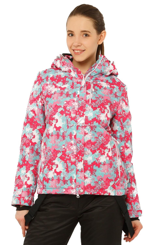 Купить оптом Костюм горнолыжный женский розового цвета 01787R в Омске