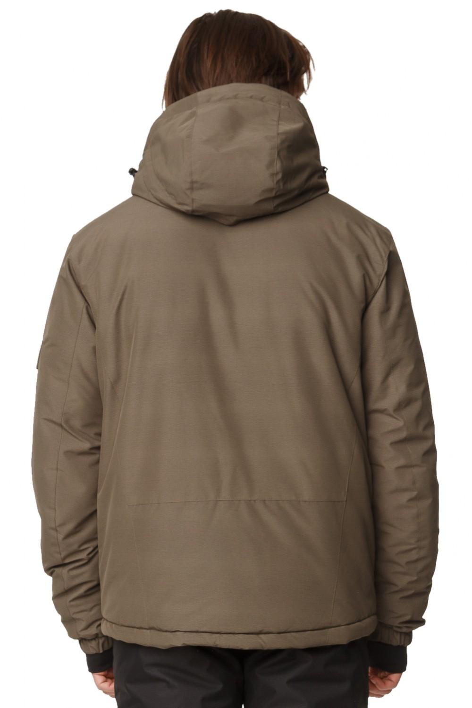 Купить оптом Костюм горнолыжный мужской цвета хаки 01788Kh в Омске