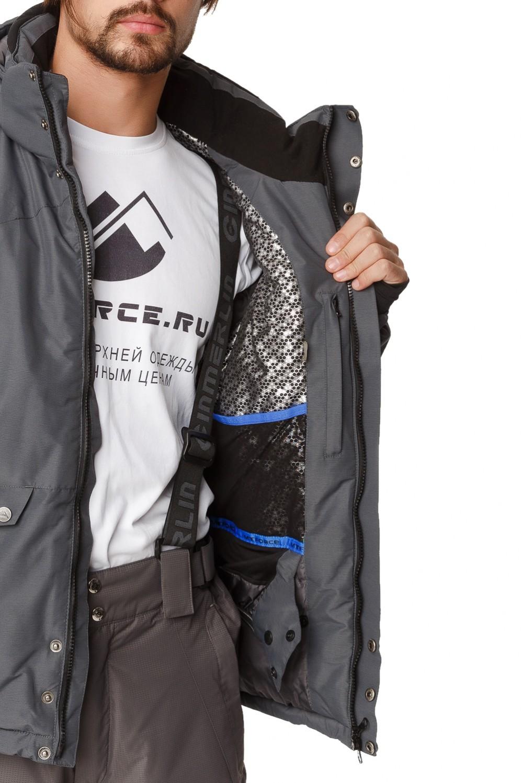 Купить оптом Костюм горнолыжный мужской темно-серого цвета 01788TC в Самаре