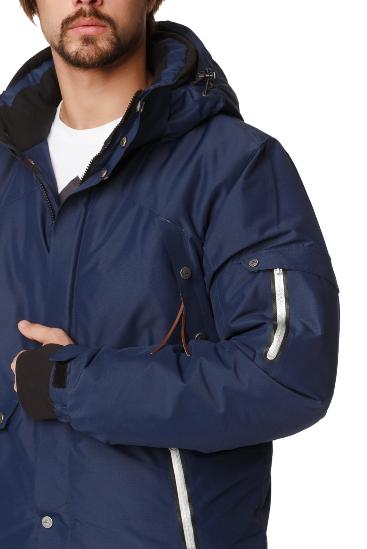 Купить оптом Костюм горнолыжный мужской темно-синего цвета 01788TS в Санкт-Петербурге