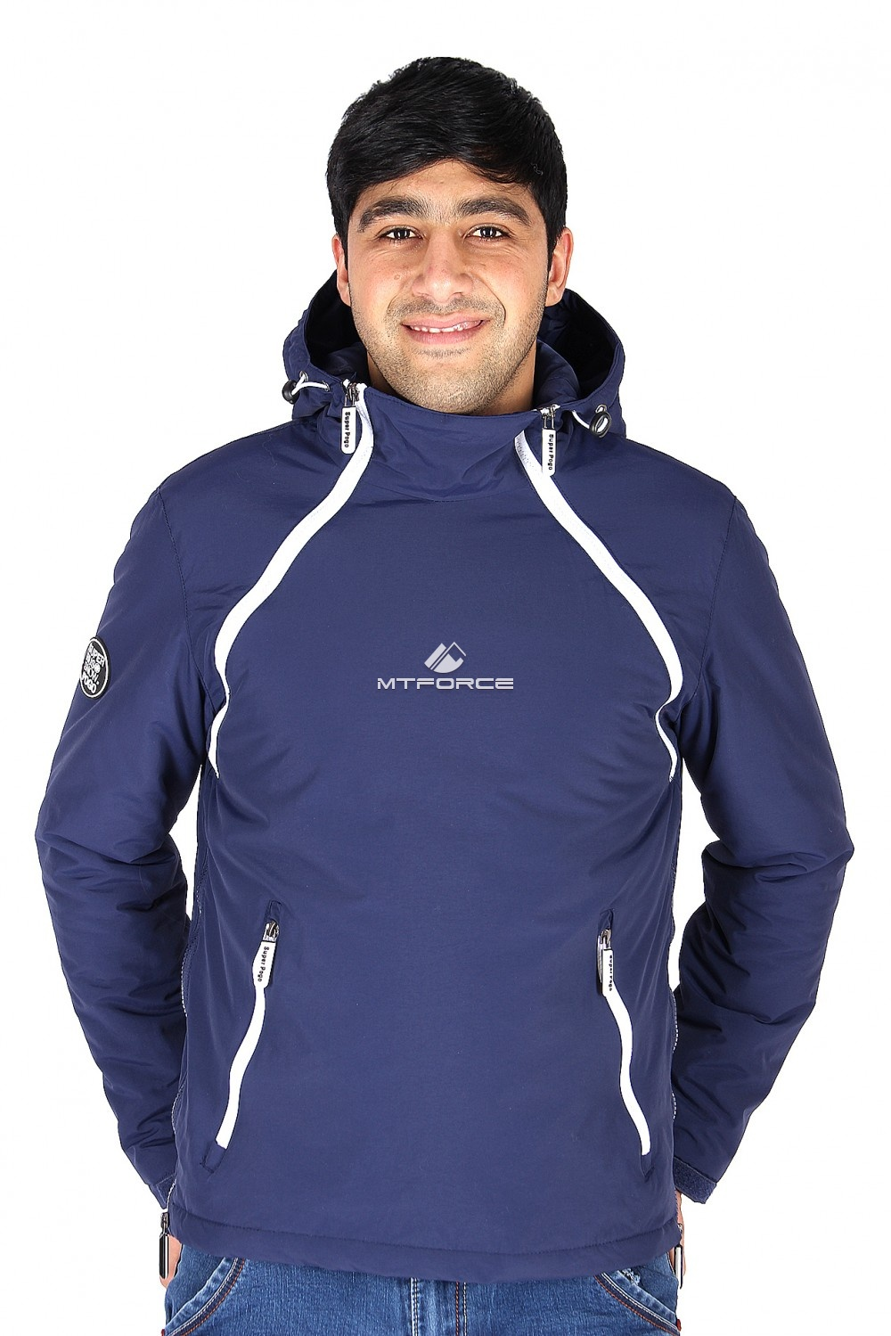 Купить                                  оптом Куртка анорак мужская темно-синего цвета 178TS