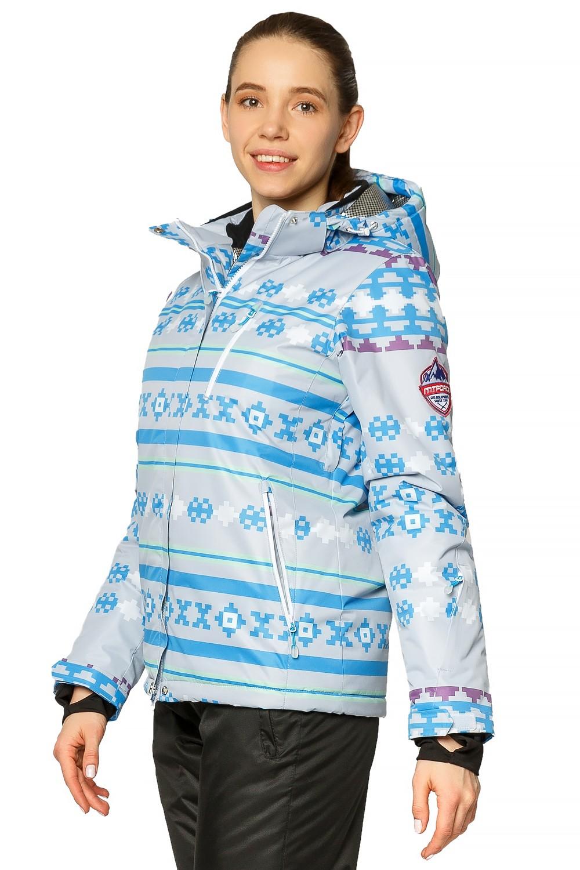 Купить оптом Костюм горнолыжный женский серого цвета 01795Sr в Казани