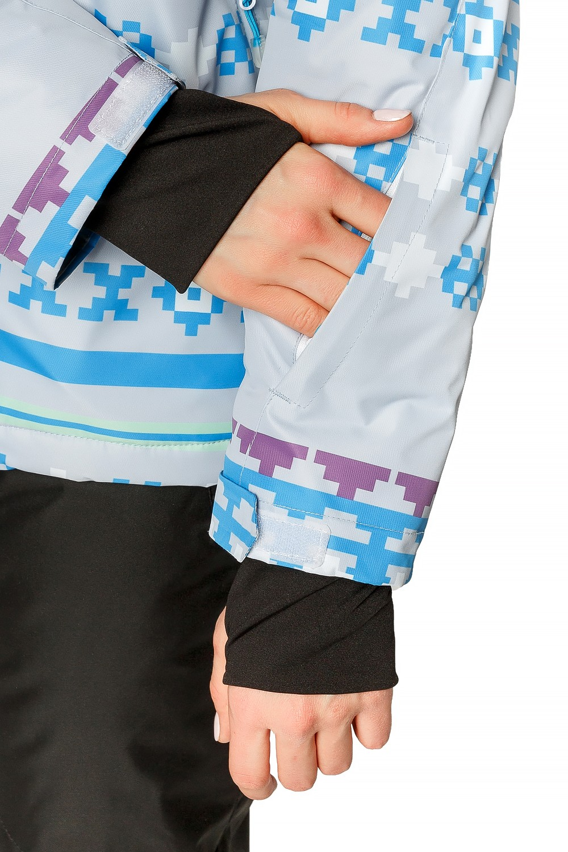 Купить оптом Костюм горнолыжный женский серого цвета 01795Sr в Екатеринбурге