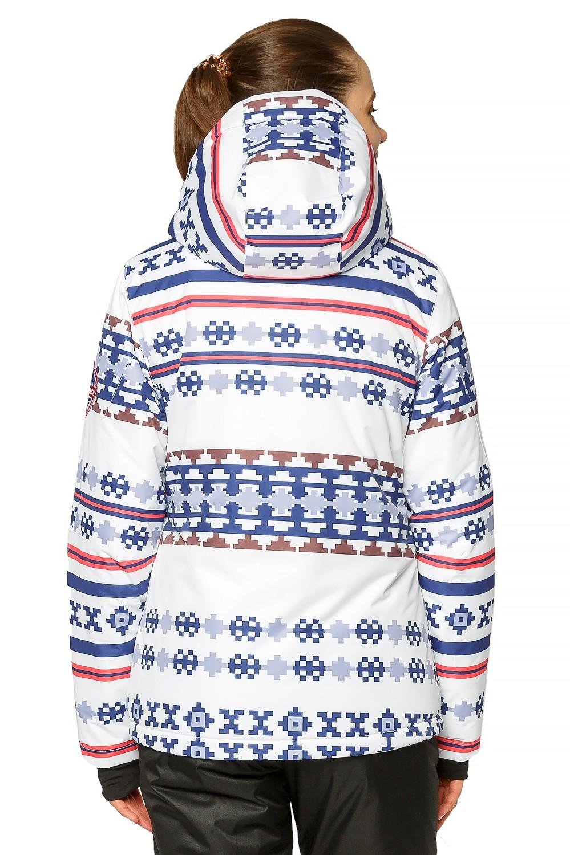 Купить оптом Костюм горнолыжный женский белого цвета 01795Bl в Нижнем Новгороде
