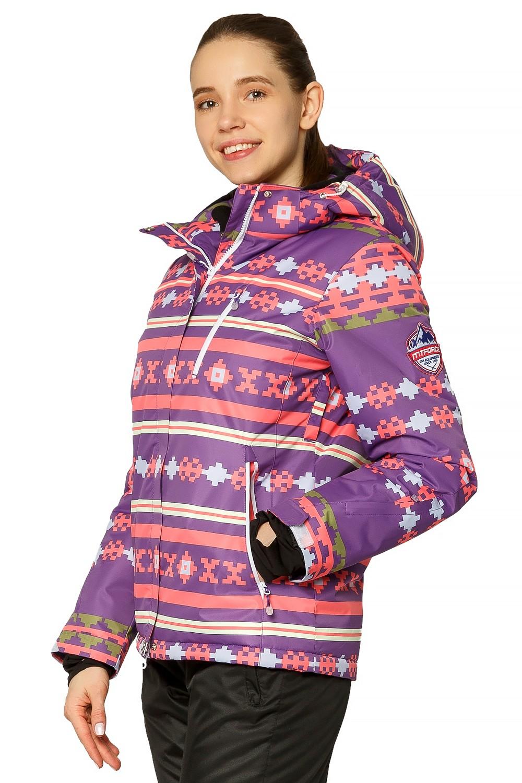 Купить оптом Костюм горнолыжный женский фиолетового цвета 01795F в Воронеже