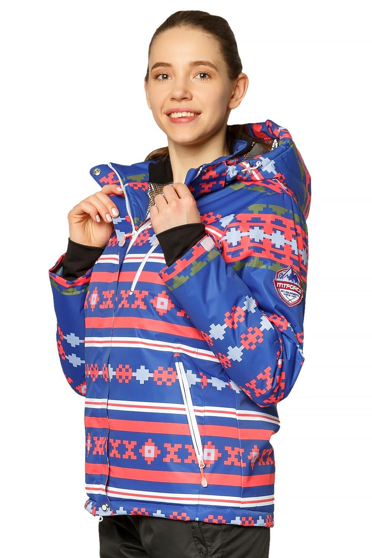 Купить оптом Костюм горнолыжный женский синего цвета 01795S