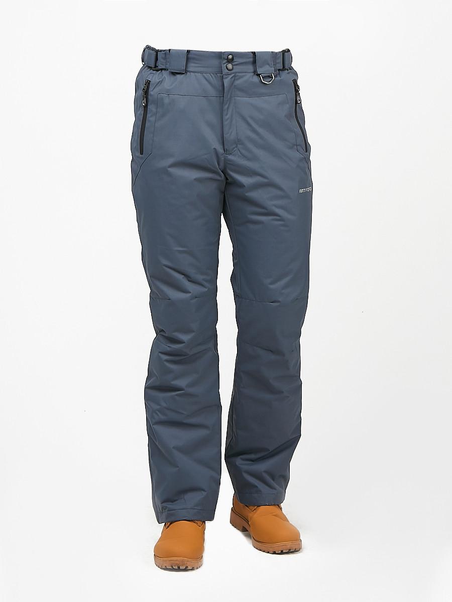 Купить оптом Мужской зимний горнолыжный костюм синего цвета 01972S