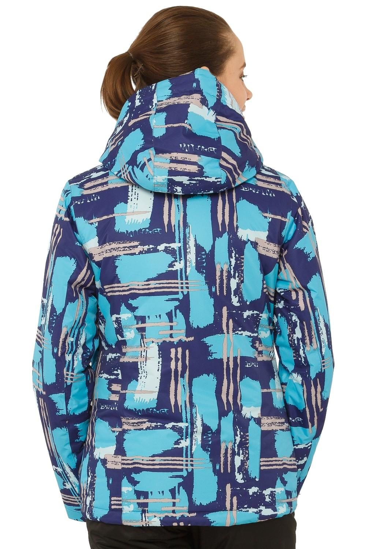 Купить оптом Куртка горнолыжная женская фиолетового цвета 1801F в Волгоградке