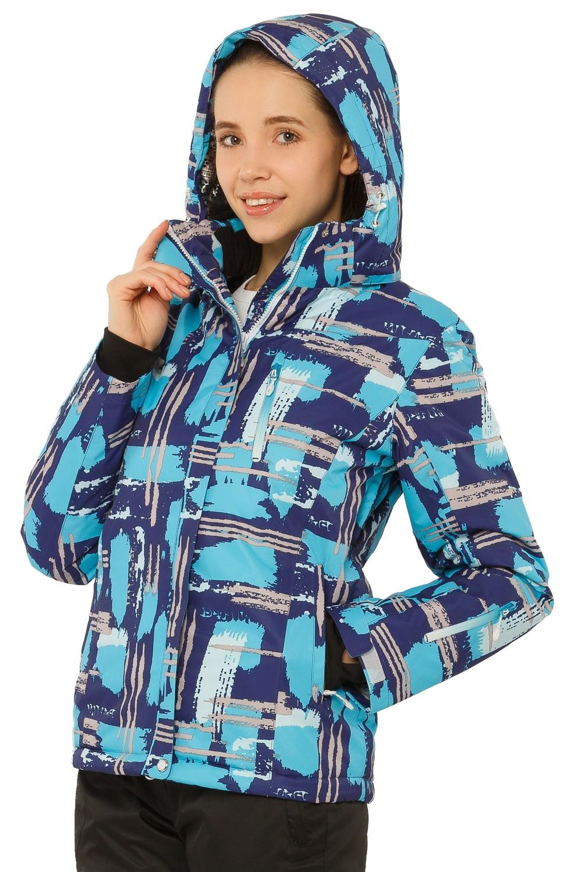 Купить оптом Куртка горнолыжная женская фиолетового цвета 1801F в  Красноярске