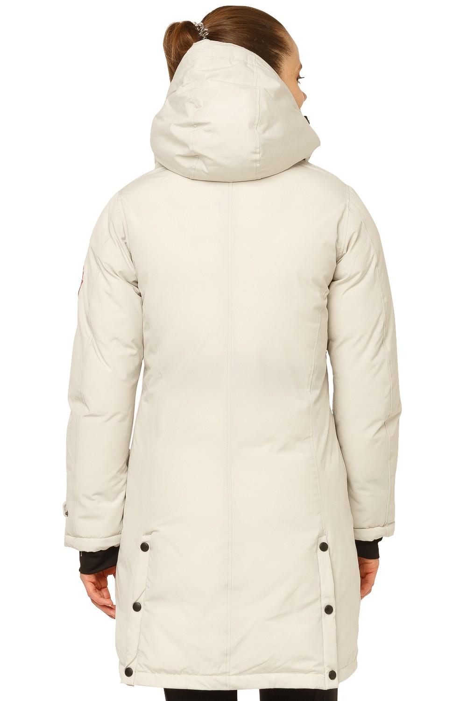 Купить оптом Куртка парка зимняя женская бежевого цвета 1802B в Челябинске