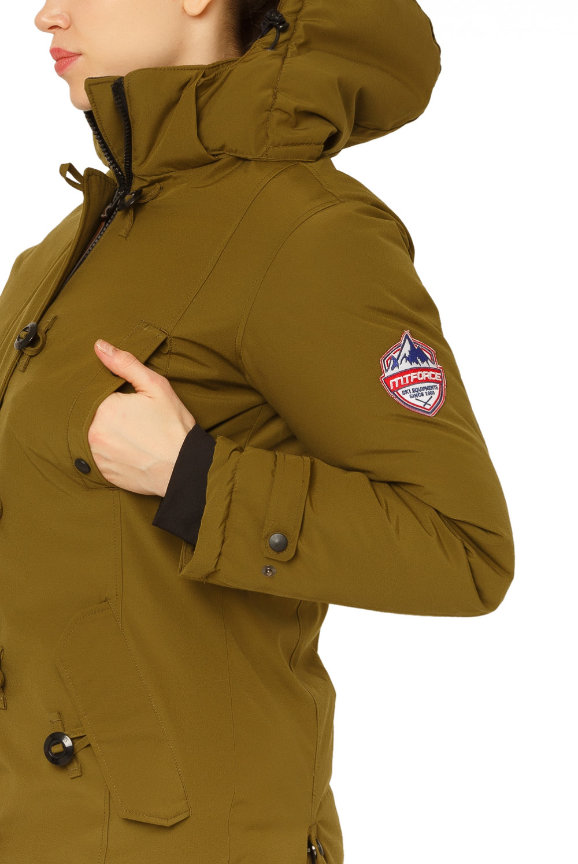 Купить оптом Куртка парка зимняя женская цвета хаки 1802Kh в Нижнем Новгороде