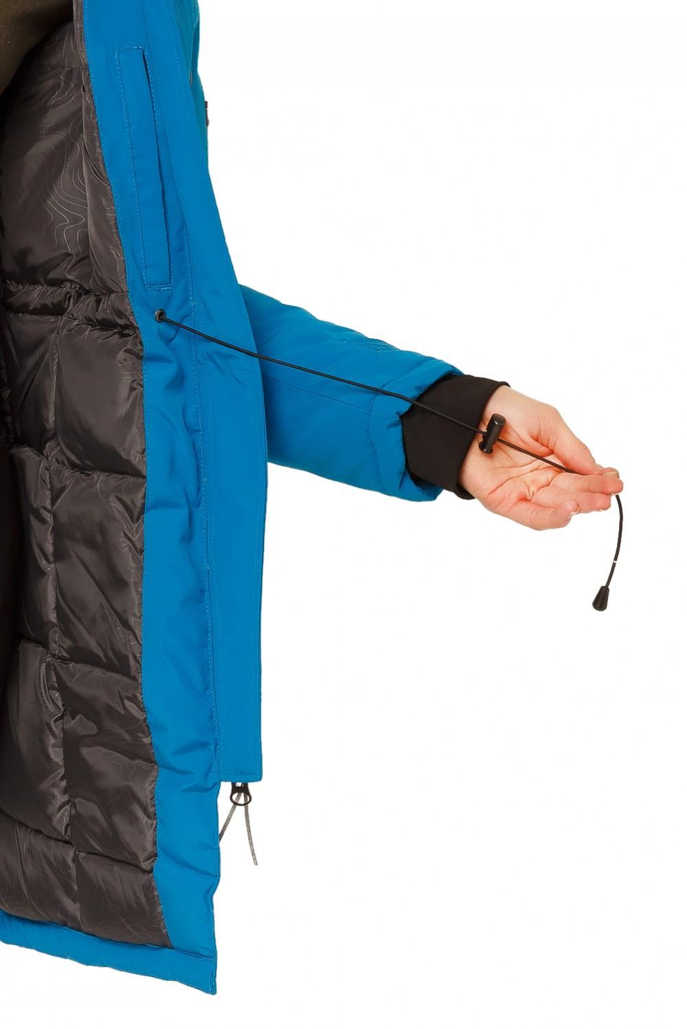 Купить оптом Куртка парка зимняя женская синего цвета 1802S в Нижнем Новгороде