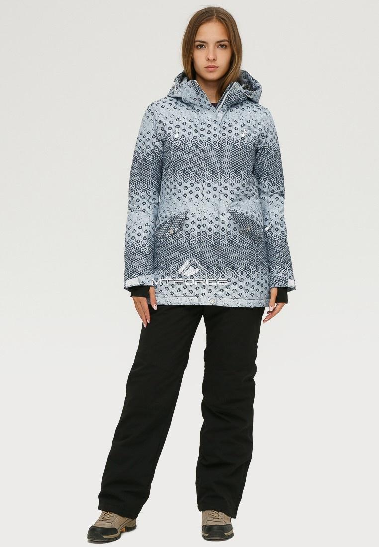 Купить оптом Костюм горнолыжный женский серого цвета 01803Sr в Екатеринбурге
