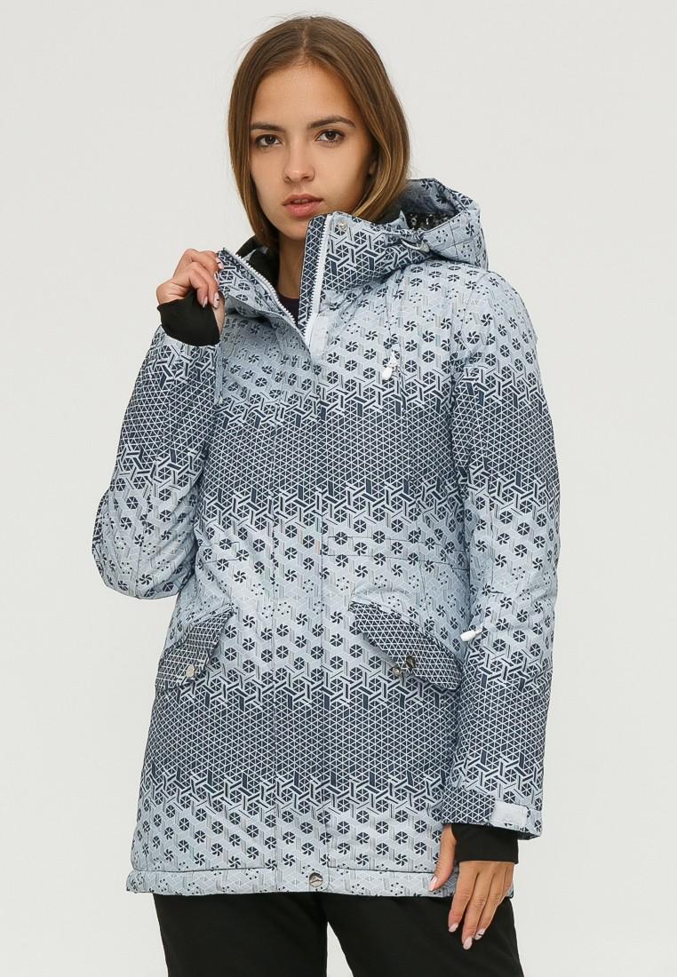 Купить оптом Куртка горнолыжная женская серого цвета 1810Sr в Уфе