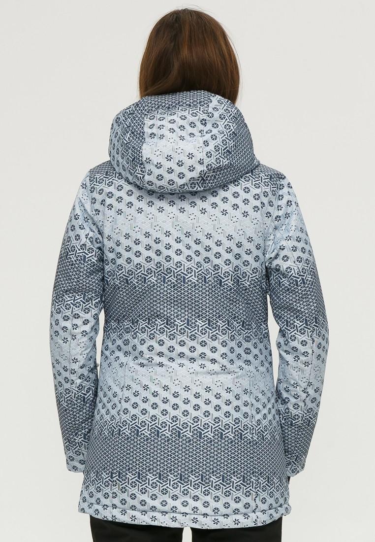 Купить оптом Куртка горнолыжная женская серого цвета 1810Sr в Волгоградке