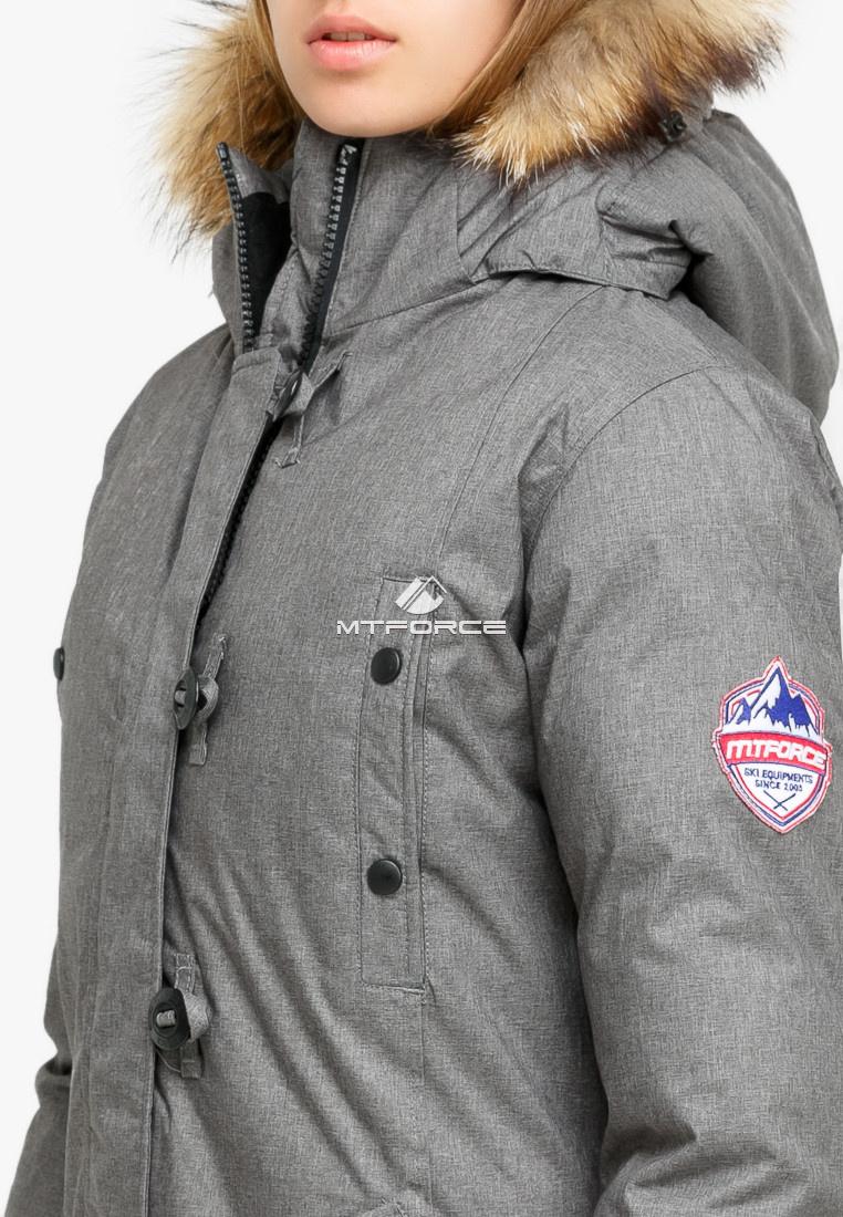 Купить оптом Куртка парка зимняя женская серого цвета 1805Sr