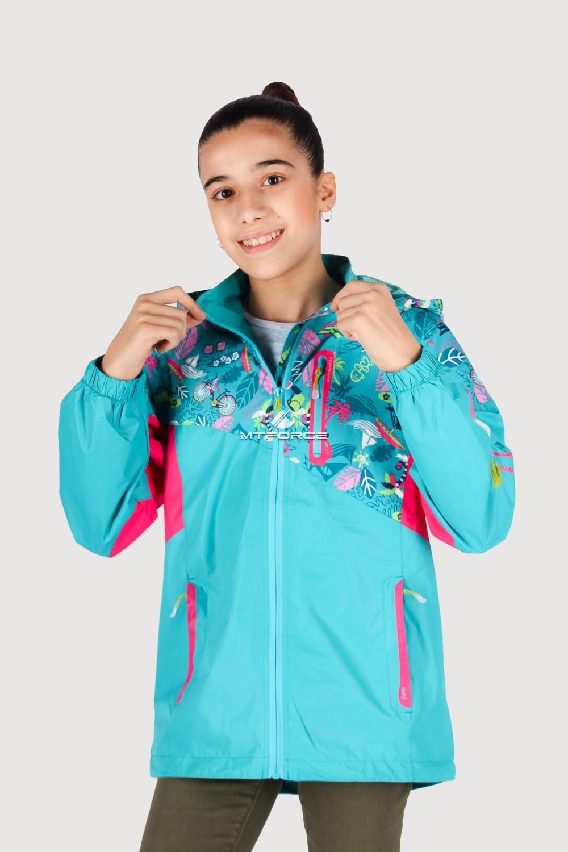 Купить оптом Олимпийка подростковая для девочки голубого цвета 18092Gl