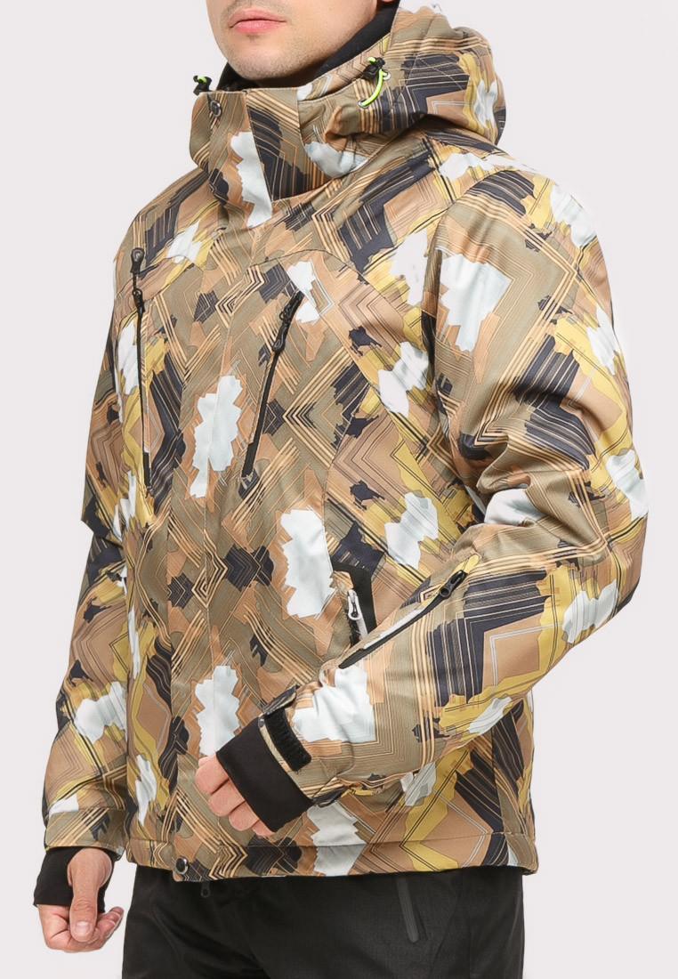 Купить оптом Костюм горнолыжный мужской коричневого цвета 018108K в Сочи