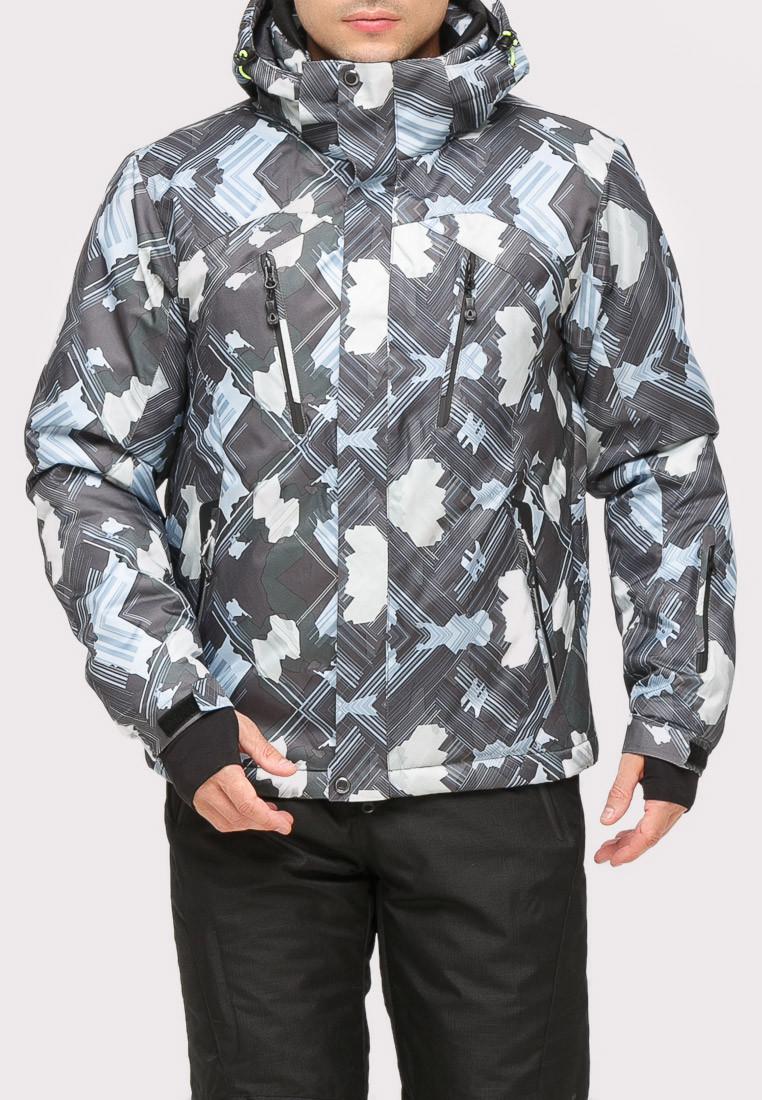 Купить оптом Куртка горнолыжная мужская серого цвета 18108Sr в  Красноярске