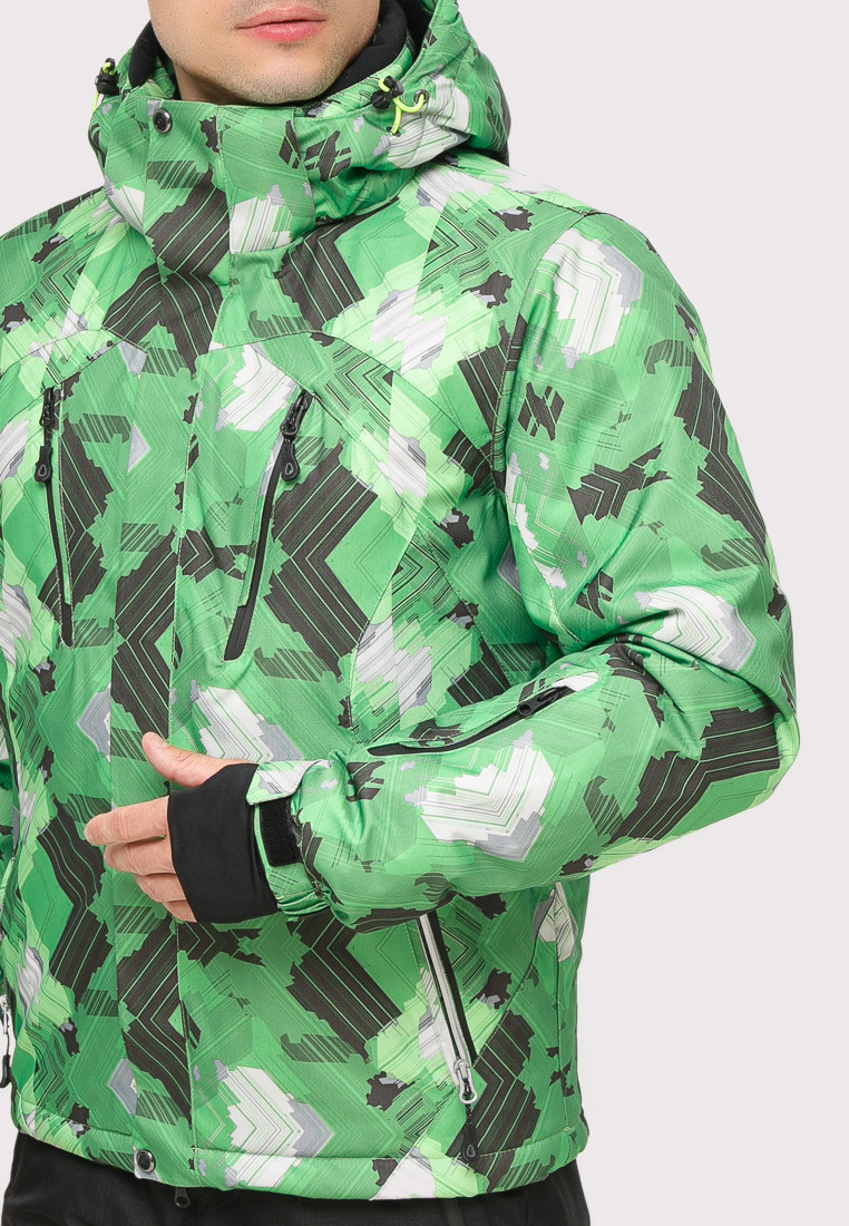 Купить оптом Костюм горнолыжный мужской зеленого цвета 018108Z