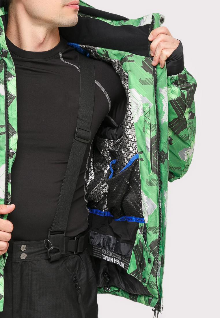 Купить оптом Костюм горнолыжный мужской зеленого цвета 018108Z в Санкт-Петербурге