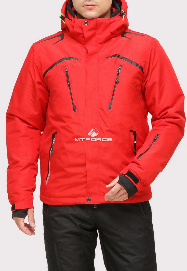 Купить оптом Куртка горнолыжная мужская красного цвета 18109Kr в Нижнем Новгороде