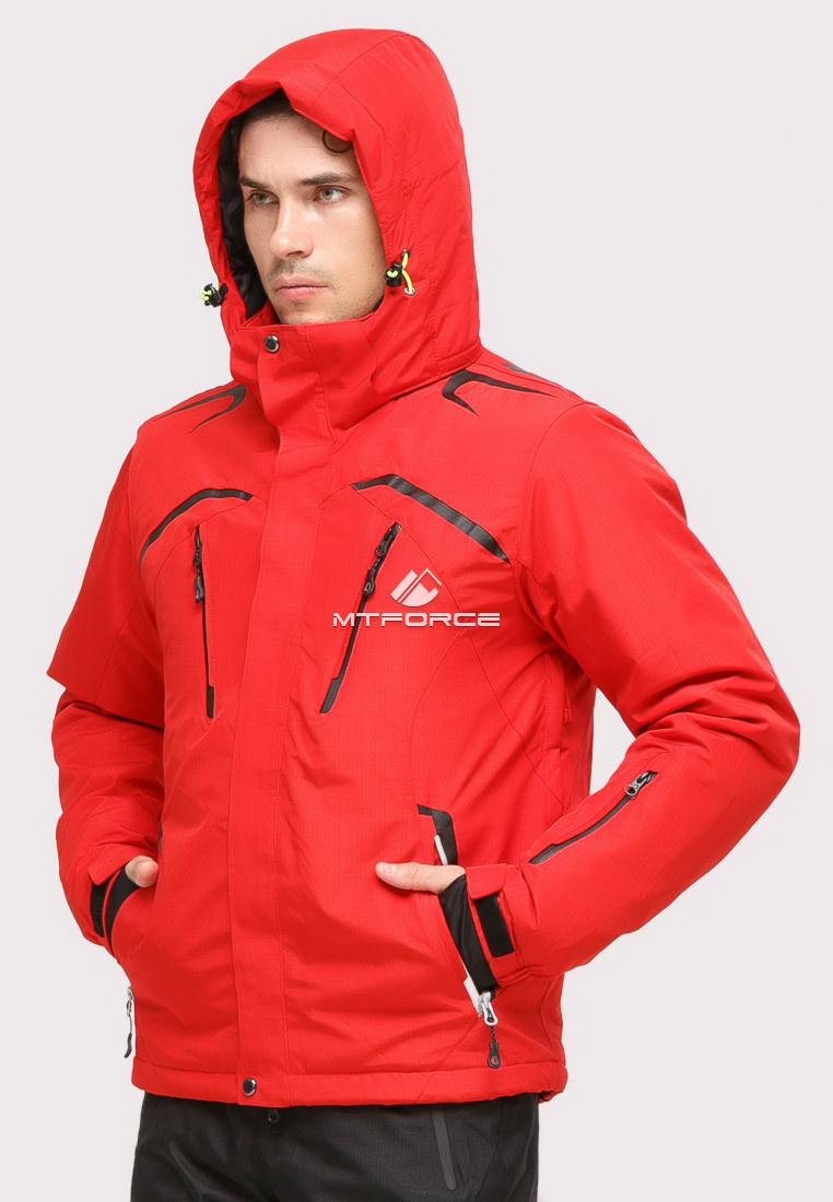 Купить оптом Куртка горнолыжная мужская красного цвета 18109Kr в Омске