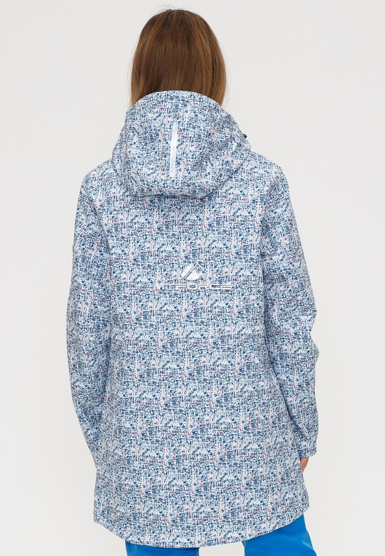Купить оптом Костюм женский softshell синего цвета 018110S в Воронеже