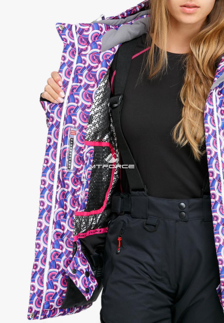 6b394c61 ... Купить оптом Костюм горнолыжный женский большого размера фиолетового  цвета 018112F ...