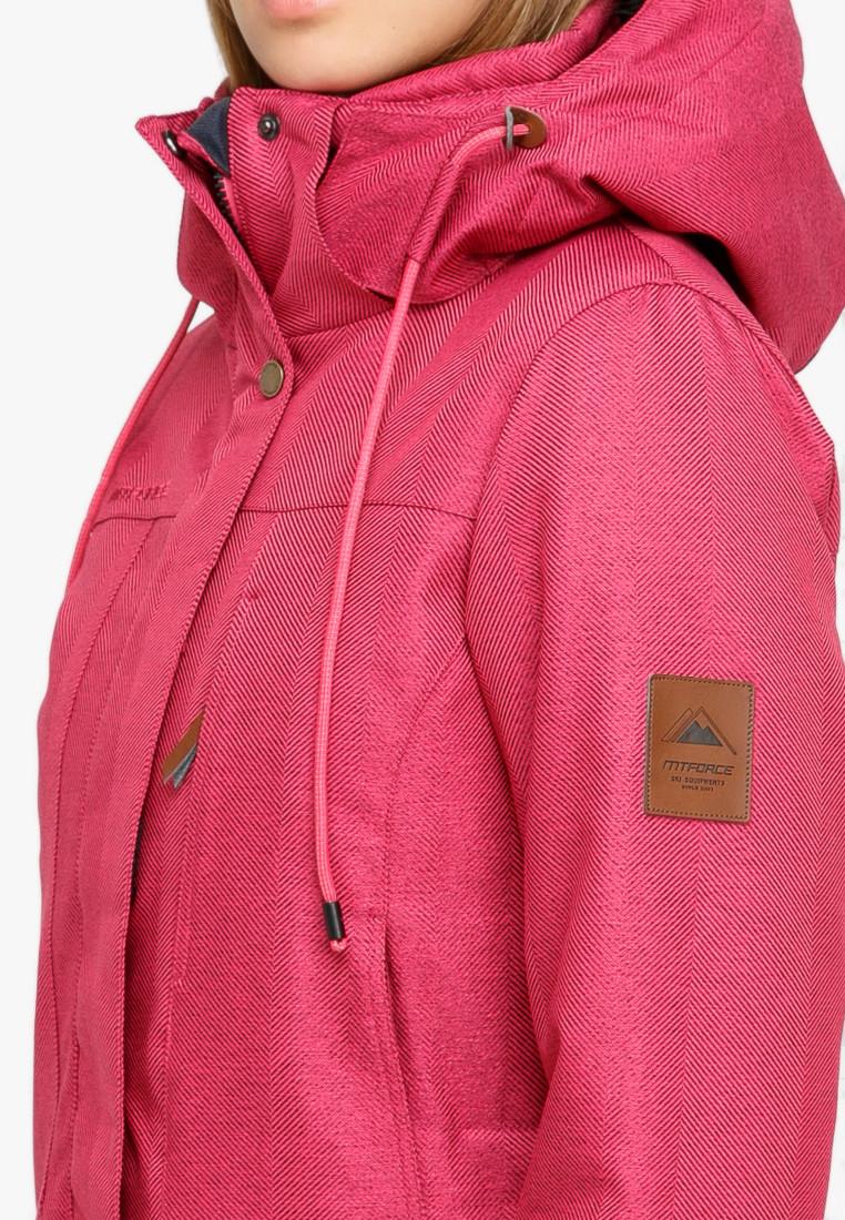 Купить оптом Куртка парка зимняя женская малинового цвета 18113М