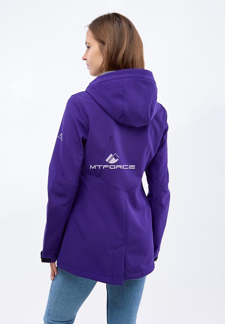 Купить оптом Ветровка softshell женская темно-фиолетового цвета 1816-1TF