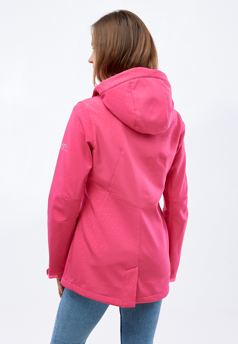 Купить оптом Ветровка softshell женская малинового цвета 1816-1M