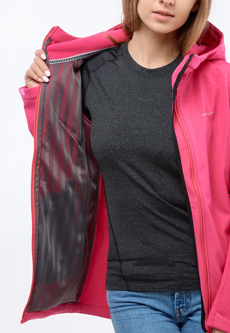 Купить оптом Ветровка softshell женская малинового цвета 1816-1M в Воронеже