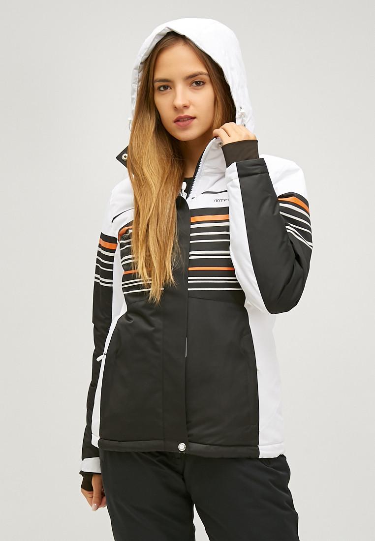 Купить оптом Женская зимняя горнолыжная куртка черного цвета 1856Ch