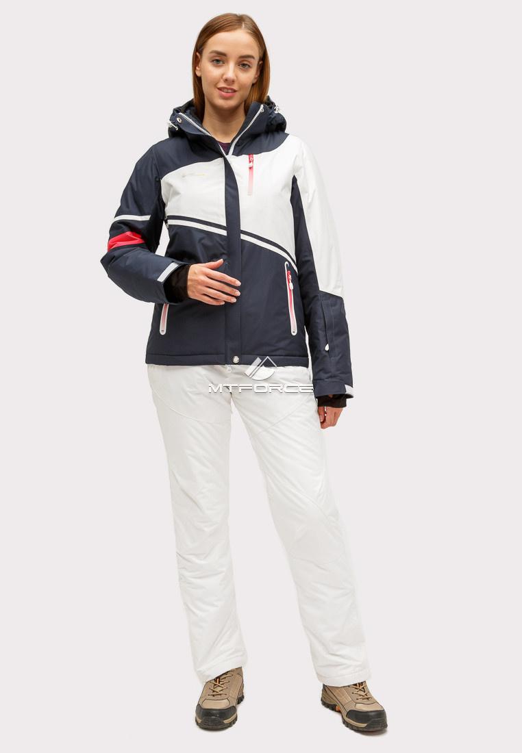 Купить оптом Костюм горнолыжный женский темно-синего цвета 01811TS