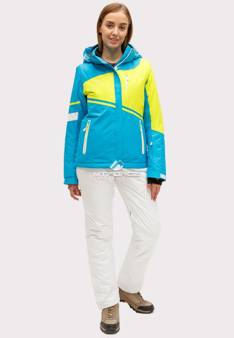Купить оптом Костюм горнолыжный женский синего цвета 01811S
